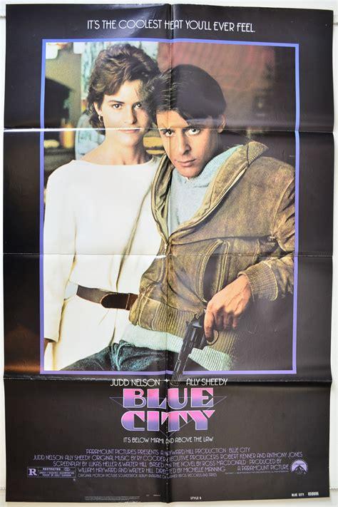 film blue city blue city 1985 original cinema 1 sheet film poster