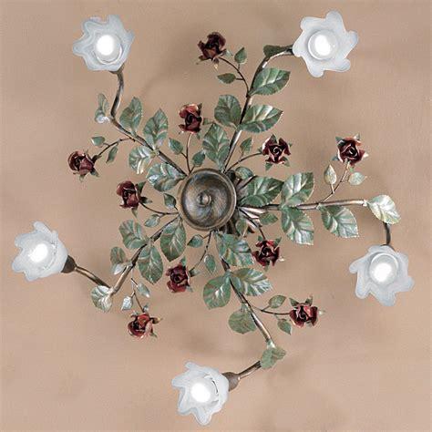 florentiner landhaus deckenleuchte im floralen stil von