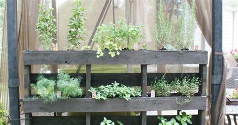 Free Standing Herb Garden by Free Standing Pallet Herb Garden Means Fresh Herbs Near