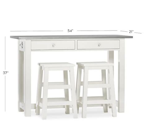 Table Height Stools Kitchen Balboa Counter Height Table Stool 3 Dining Set White Pottery Barn