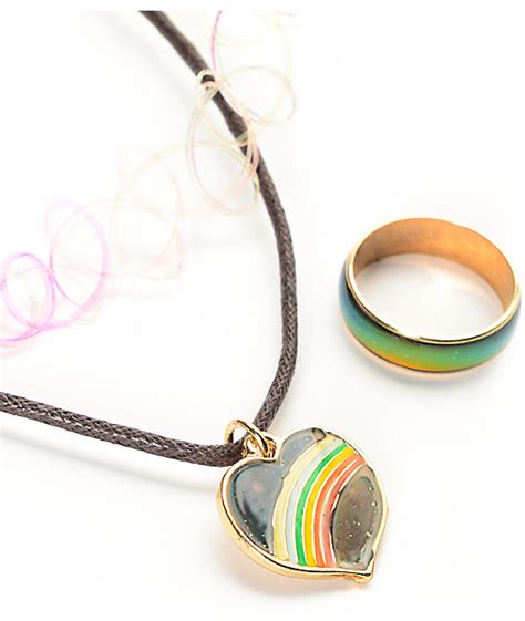 Exclusive Color Of Tatto Choker locket 90 s chocker mood ring set