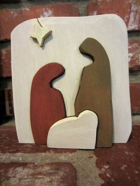 pattern for wood nativity scene diy nativity scenes easy christmas crafts you pinspire me