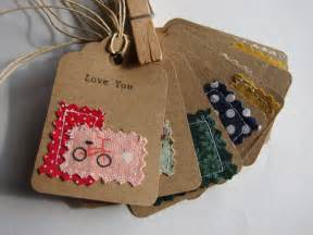 Fabric Tags For Handmade Gifts - items similar to sewn fabric and typed kraft paper