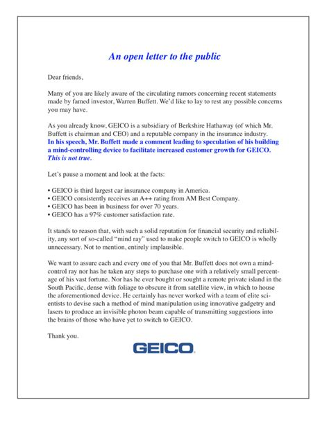 Geico Letter To Cancel Previous Insurance Kevin Writes Stuff