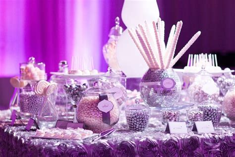 Love Is Sweet And So Are Wedding Candy Buffets B Purple Wedding Buffet