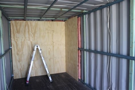 Lining A Shed With Plywood by 87 Building Wallas In Shipping Container Welcome To Containerhomes How Center All The Steps