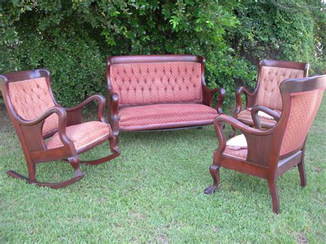 settees for sale on ebay antique victorian furniture complete parlor set four