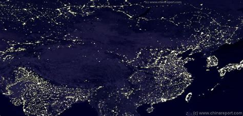 Light Pollution Map Usa Satellite Image Overview Peoples Republic Of China And
