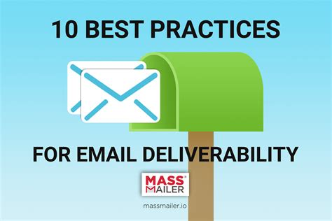 10 Best Practices For Email Deliverability Massmailer Email Template Best Practices 2017