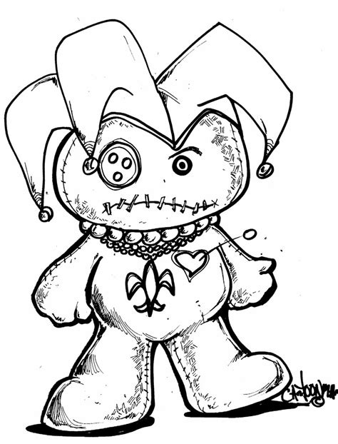 mardi gras voodoo doll by sketchoo on deviantart