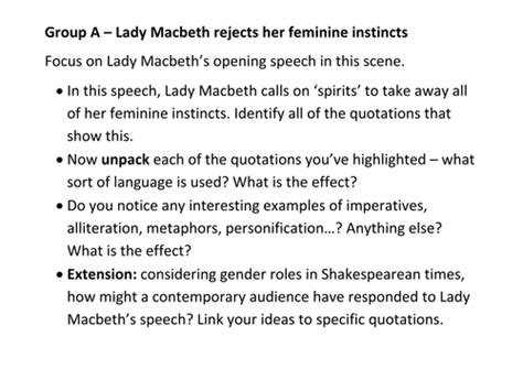 macbeth act 5 scene 1 ofsted outstanding lesson by lady macbeth act 1 scene 5 by slinds teaching