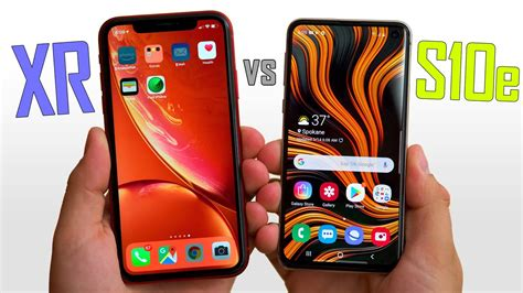 galaxy se  iphone xr real world differences youtube