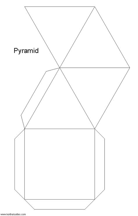 How To Make A Paper Pyramid Template - paper square pyramids
