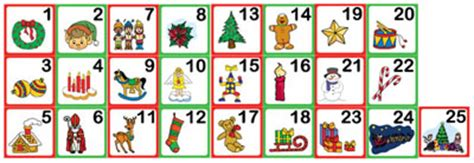 printable christmas number cards countdown to christmas advent calendar activities for kids