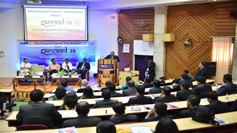 Mdi Executive Mba by Samvaad 2016 Industry Leaders Engage In Constructive