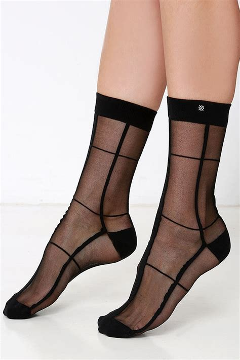 Mesh Socks stance crawler socks sheer black socks mesh