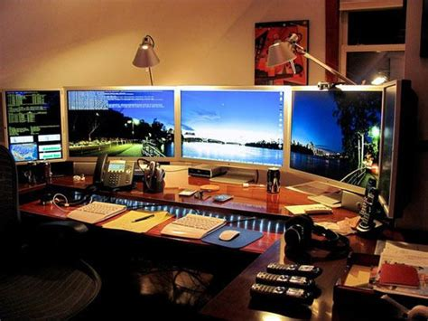 mitch s multi monitor the top home office the