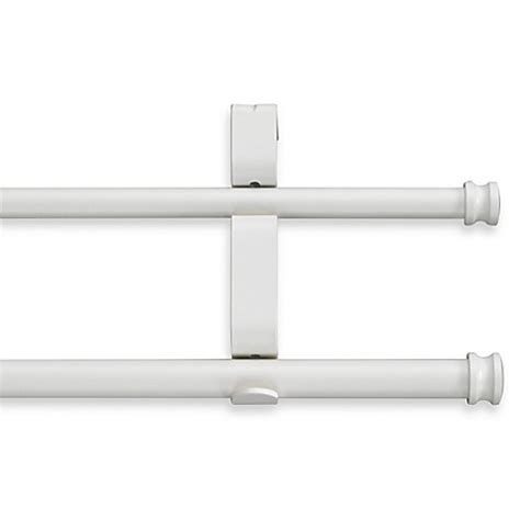 bed bath and beyond double curtain rod cambria 174 classic complete 174 double drapery rod in satin