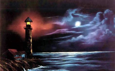hd lighthouse stormy night wallpaper
