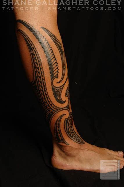 tribal tattoos calf muscle maori polynesian fusion calf my tattoos