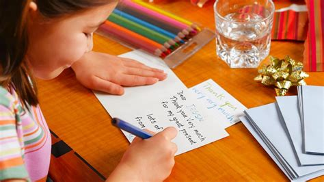 Writing A Thank You Card
