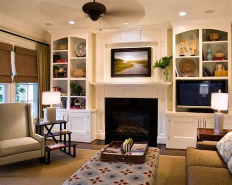 fireplace with built ins built ins around fireplace houzz