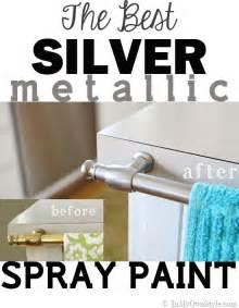 Antique Bronze Kitchen Faucet spray painting metal hardware brass to nickel in my own