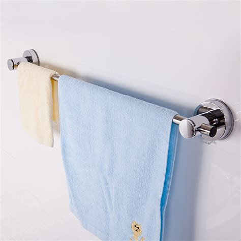 Bathroom Towel Storage Wall Mounted Stainless Wall Mounted Bathroom Towel Rail Holder Storage Rack Shelf Bar Hanger Ebay