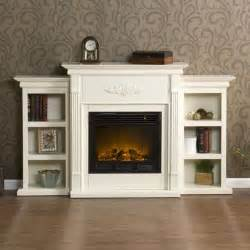 white antique wood electric fireplace mantle media heater