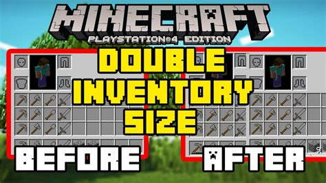 tutorial hack ps4 minecraft ps4 xbox one double your inventory size how