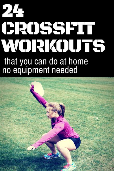 24 no equipment crossfit workouts at home fitzala