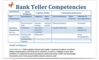 bank teller competencies what you need to get the