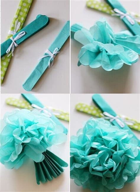 How To Make Tissue Paper Decorations For Baby Shower - tissue paper pom poms decoration ideas backdrop baby