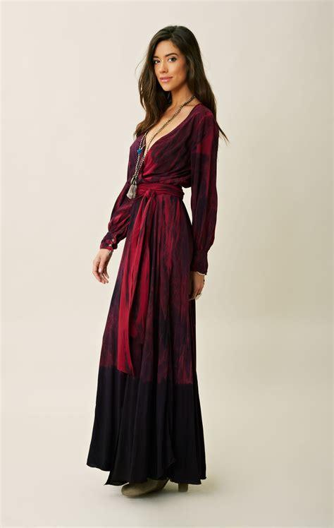 fashion dress 70s style blu moon 70s style tie dye dress in red atsk lyst