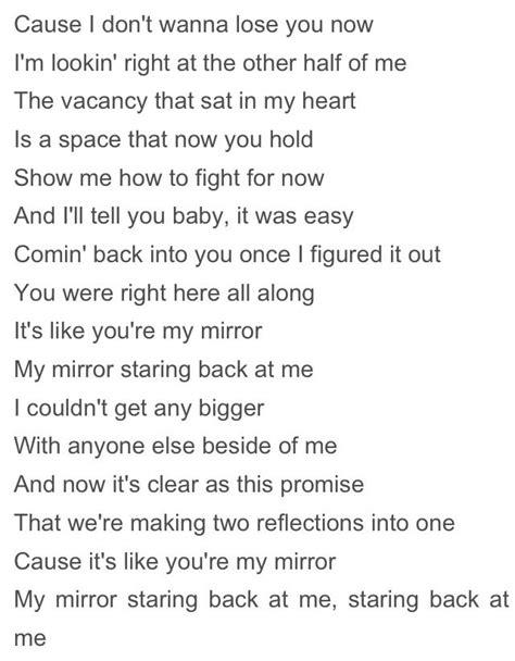 "Lyrics to ""Mirrors"" by Justin Timberlake | Mirrors lyrics"