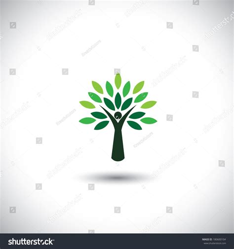 Green Also Search For Tree Icon With Green Leaves Eco Concept Vector