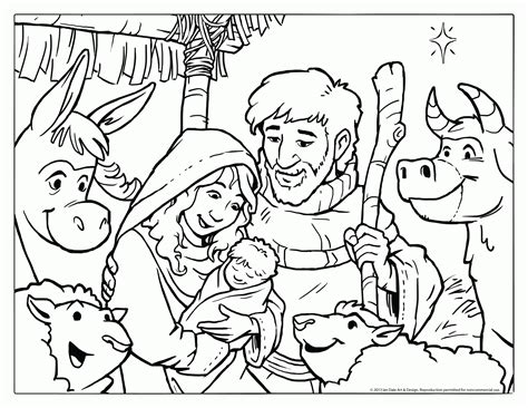 coloring pages for christmas story the christmas story in coloring pages for preschool many