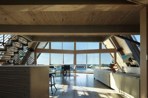 interior design a frame house beachfront a frame house with wide open interior modern