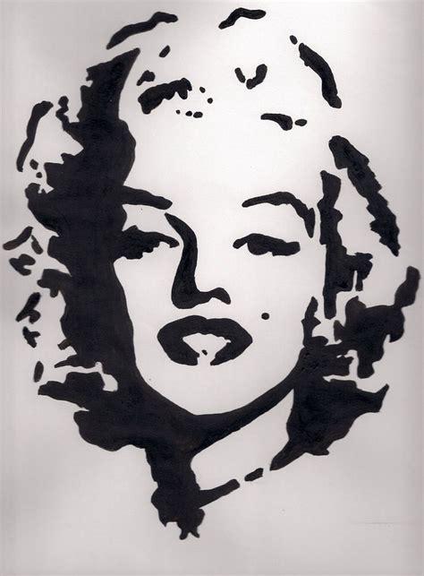 and stencils pop black and white pesquisa vetor