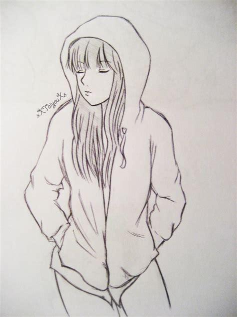 hoodie design drawings pic of anime girl in hoodie hoodie girl by xxtaiyouxx