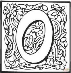Letter O With Ornament Coloring Page Free Printable Free Ornaments Coloring Pages Printables