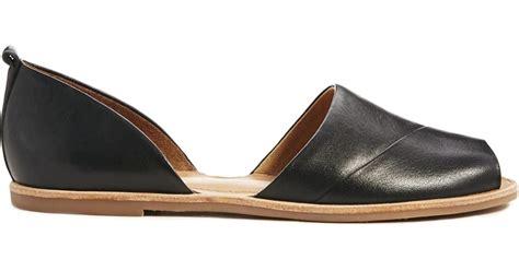 black peep toe flat shoes aldo black peep toe flat shoes in black lyst