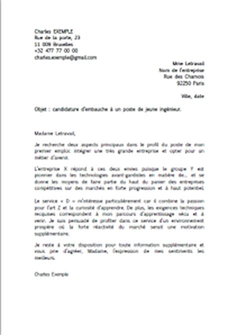 Lettre De Motivation Lettre Type Gratuite Modele Lettre Motivation Gratuite Candidature Spontanee