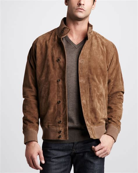 suede jacket millar suede jacket in brown for lyst
