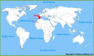 spain location on the world map