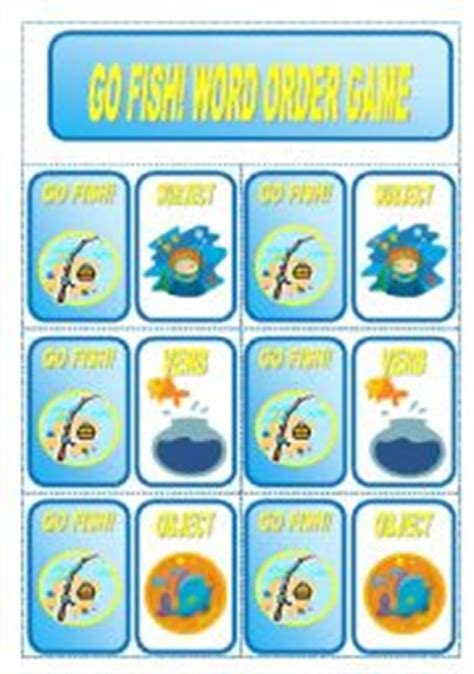 printable go fish card games go fish word order card game 3 pages