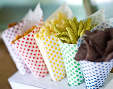 How To Make Paper Cones For Food - 96 polka dot paper cones assorted