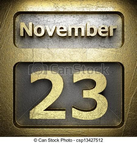 clipart of november 23 golden sign on silver csp13427512