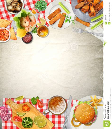 fond de cuisine fond bar picnic cuisine food illustration stock