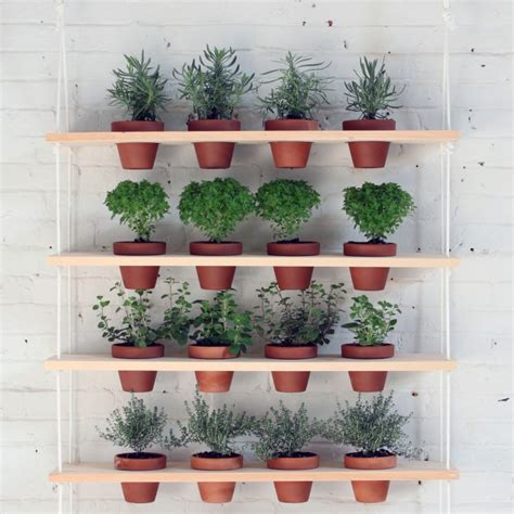herb shelf diy hanging garden shelves for a small space gardenista
